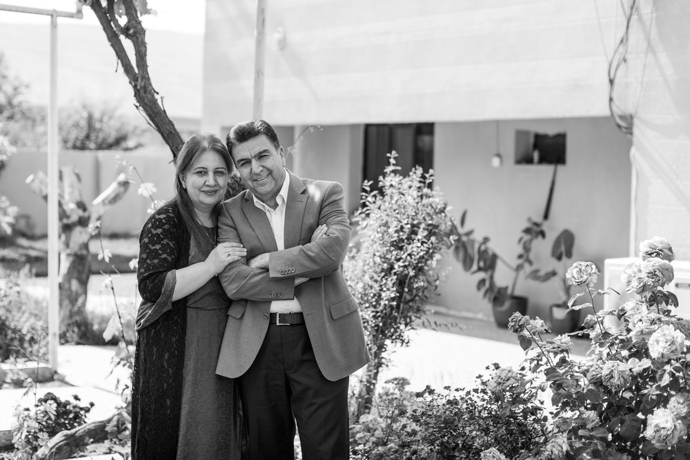 Mayor Krmanj Ezzat Dargali and his wife, Sayran // Photo Credit: Jessie Parks