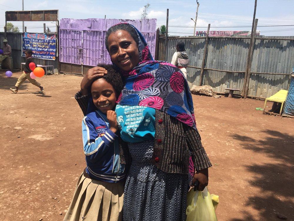 Ehetinesh & Selam Ethiopia Family