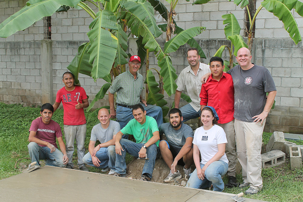 Kevin Squires with a team in Guatemala