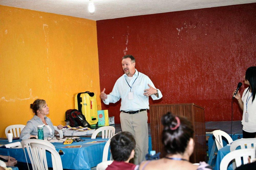 Scott Vair leading training in Guatemala
