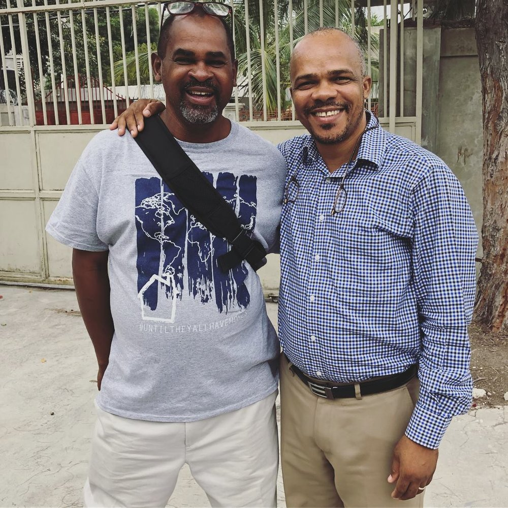 Francois with Pastor Vijonet, a Haitian pastor in the World Orphans HBC Program