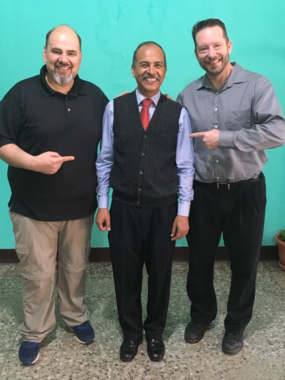 US Church Partnership Trip team members with a Guatemalan pastor