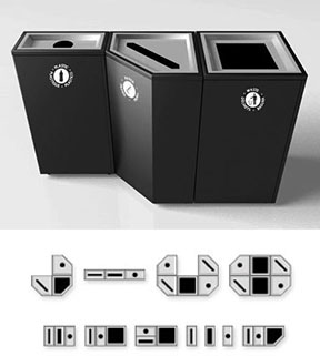 Magnuson Group - Valuta Trash & Receptacle Bins