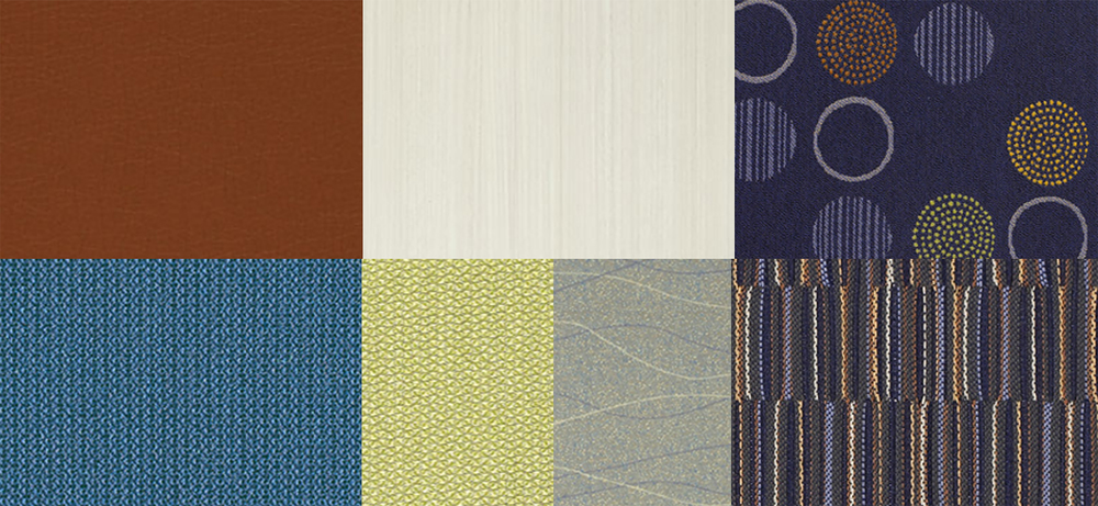 Selected fabric and finishes.