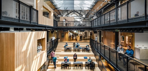 Airbnbu0027s New Dublin Headquarters, Built Inside An Abandoned Warehouse, Is  The First Office The Company Has Designed From Scratch. The Huge Staircase  At The ...