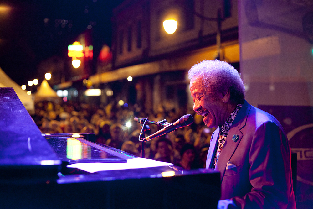Allen Toussaint - Hallowbaloo 2013.   Photo: Sean Davey