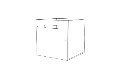PET Box - (L x W x H mm)368mm3 40 Ltr storageRecycled PET