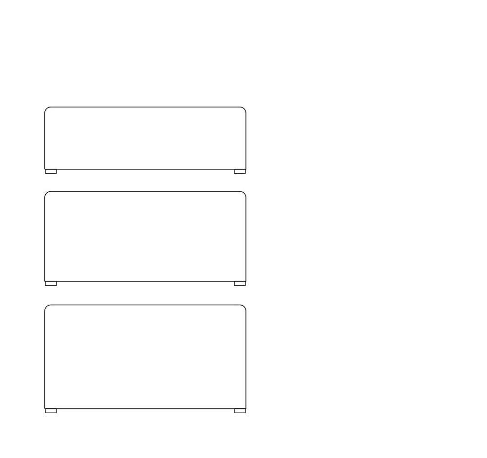 Pouffe L1450 - (L x W x H mm)1450 x 750 x 4501450 x 750 x 6501450 x 750 x 750Custom