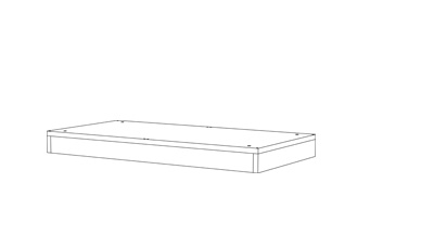 Plinth Double - (D x W x H mm)800 x 400 x 7516mm Black HDFLevelling feet