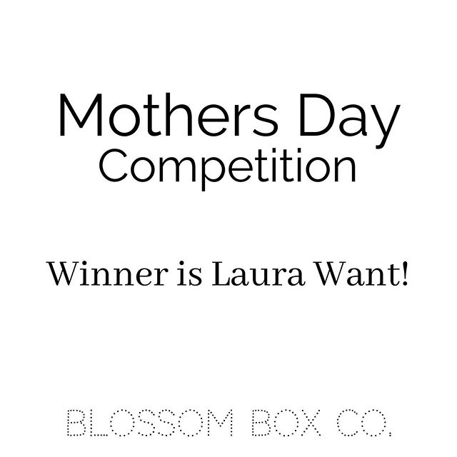 Happy Mother's Day to all of our beautiful mums out there! 💗💗💗 After all the craziness of today we have finally drawn a winner using a random selector program. We would like to CONGRATULATE @laurawant on winning our Mother's Day Competition! Please contact us to organize to collect your prize!