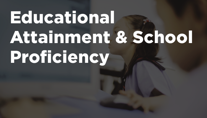Educational Attainment & School Proficiency