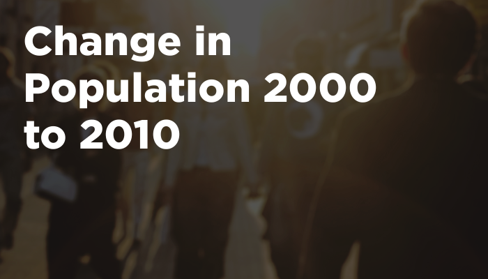 Change in Population 2000 to 2010