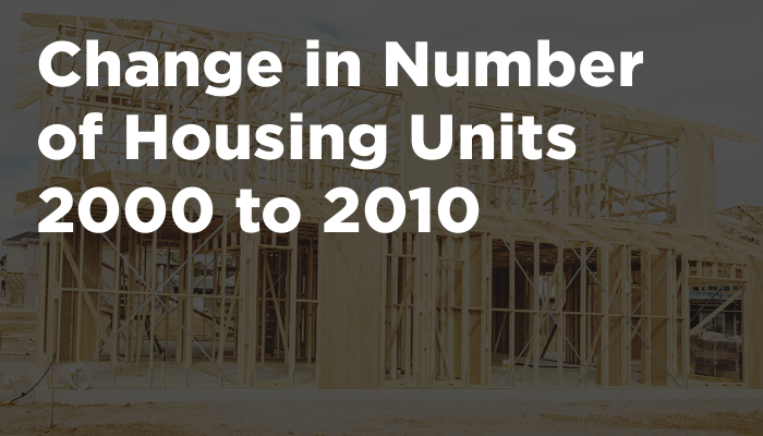 Change in Number of Housing Units 2000 to 2010