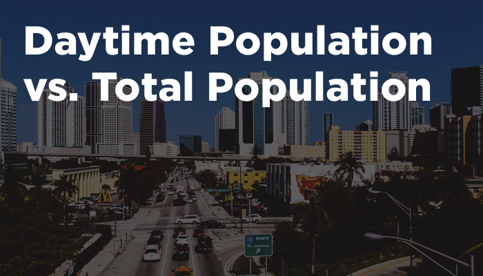 Daytime Population vs. Total Population
