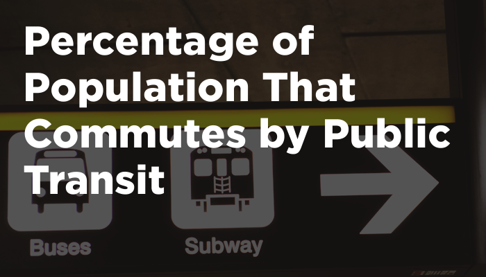 Percentage of Population That Commutes by Public Transit