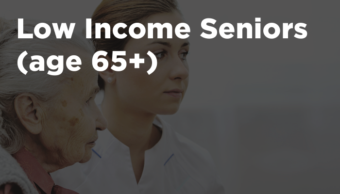 Low Income Seniors (age 65+)
