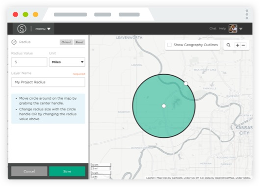 DIY Analysis - Follow your curiosity.Answer your own questions with user-friendly tools, like map filters for finding locations that meet the parameters you set, and drawing tools for creating and analyzing custom shapes.