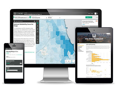 mySidewalk - A city intelligence tool designed to help local government analysts get data out of silos and into operational, strategic, and policy decisions.Explore mySidewalk