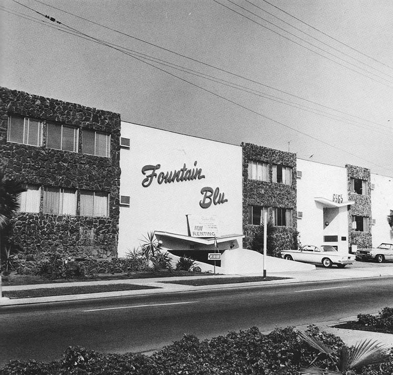 """Edward Ruscha, """"6565 Fountain Ave.,"""" from Some Los Angeles Apartments, 1965"""