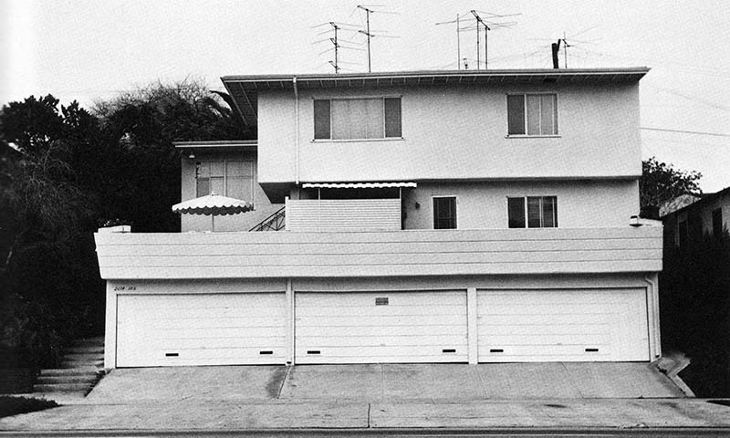 """Edward Ruscha, """"2014 S. Beverly Glen Blvd.,"""" from Some Los Angeles Apartments, 1965"""