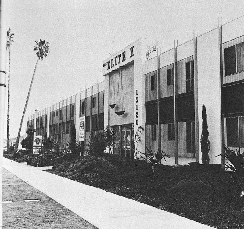 """Edward Ruscha, """"15120 Victory Blvd.,"""" from Some Los Angeles Apartments, 1965"""