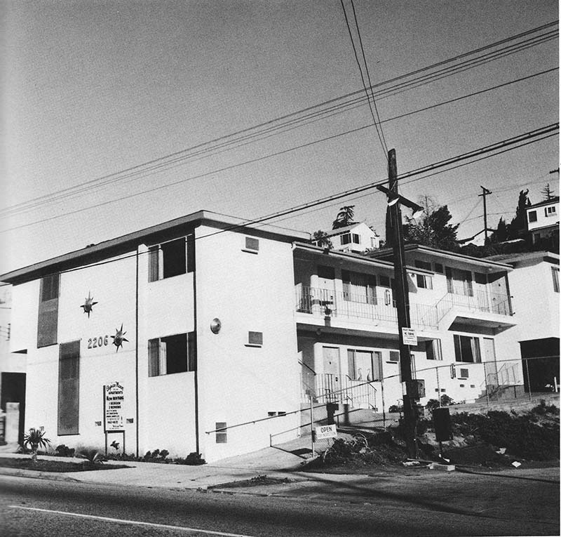 "Edward Ruscha, ""2206 Echo Park Ave.,"" from Some Los Angeles Apartments, 1965"