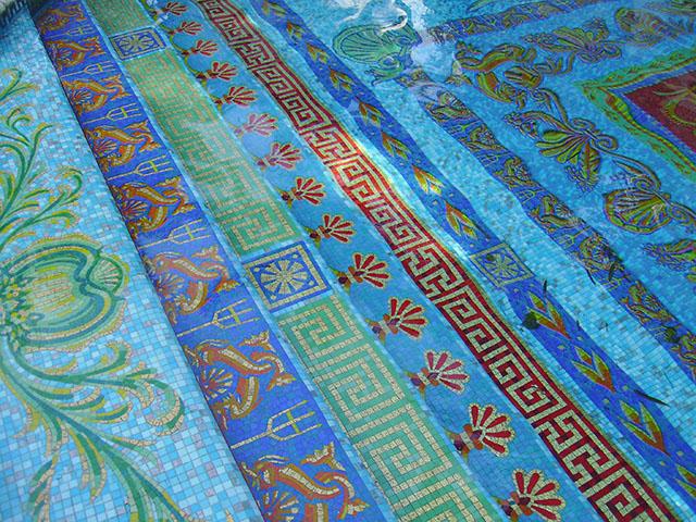 Pool Mosaic Detai , Casa Casuarina, Miami
