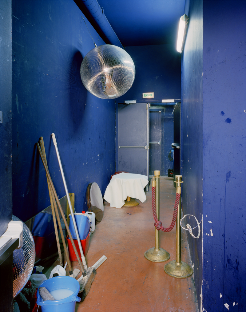 BUS PALLADIUM: Back Hallway with Spare Disco Ball, Paris, France, 2003