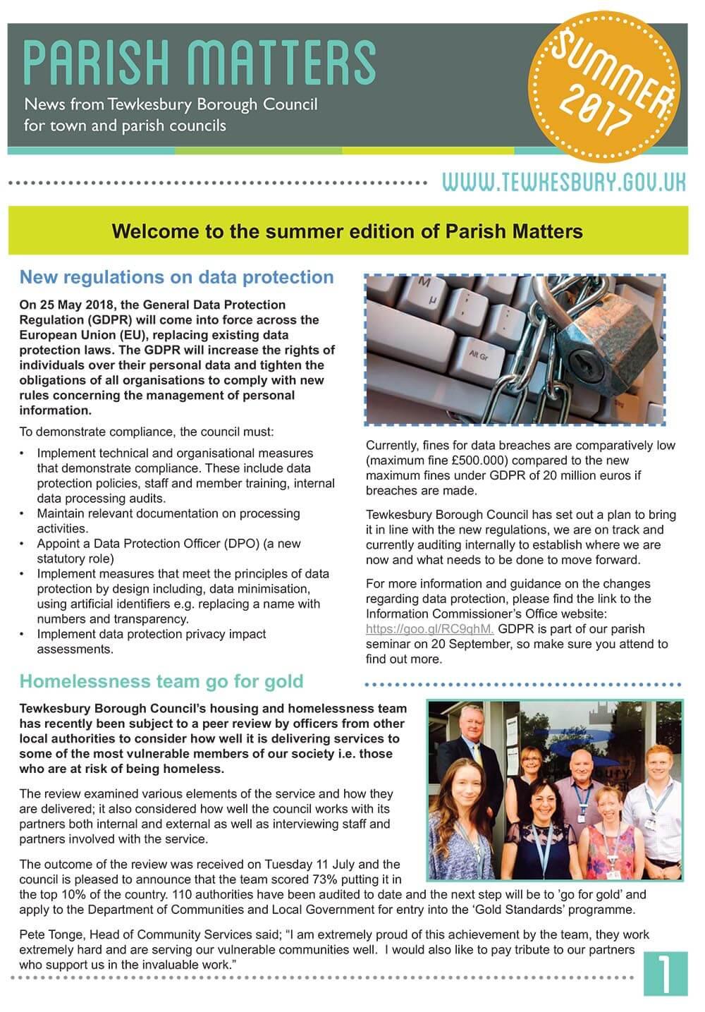 Parish Matters - August 2017