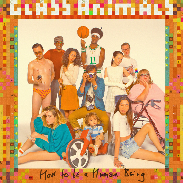 """Photo courtesy of Glass Animals  English indie rock band Glass Animals' cover for their latest album, """"How to be a Human Being"""""""