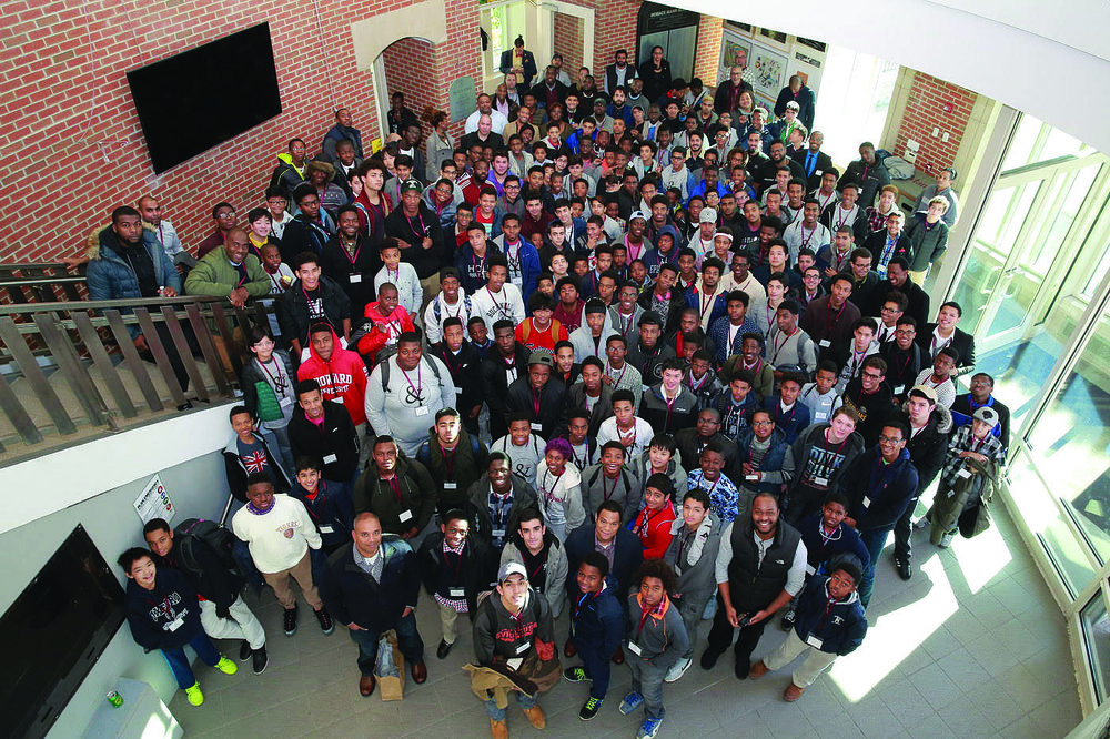 Photo courtesy of Dwight Vidale  A collection of Participants at the young men of color symposium.