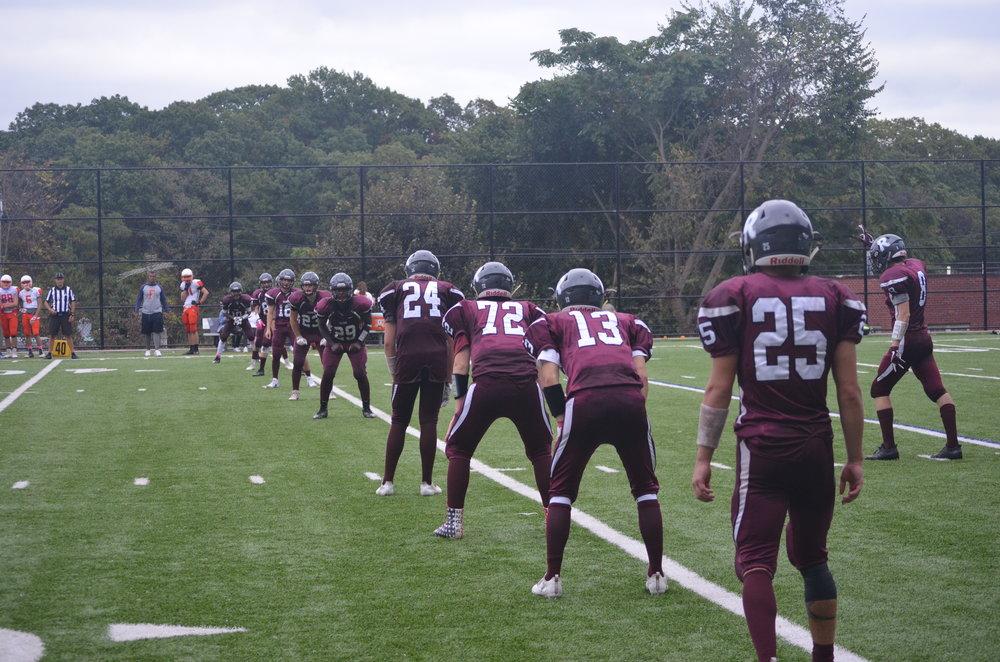 At the start of the Riverdale varsity football game. Image courtesy of Patrick Davidson.