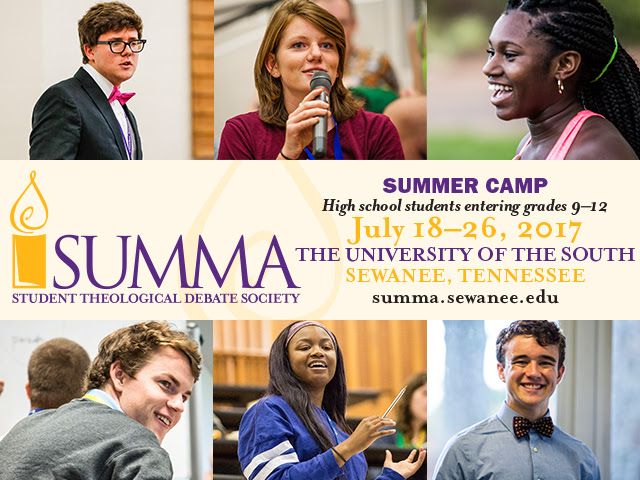 Summa Theological Debate Camp At The University Of The South
