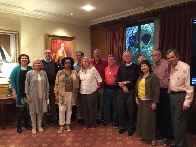 Deputation photo-back row, L-R Vy. Rev. Mary Demmler, Rev. Jeff Jackson, Rev. Cynthia Park, Rev. Arthur Villarreal, Bishop Rob Wright, Raz Schreiber, John Andrews (sorry he got put in the back!) Bruce Garner, Les Callahan. Front row L-R, Beth King, LaFawn Gilliam, Rev. Sharon Hiers, Vy. Rev. Sam Candler, Angela Williamson