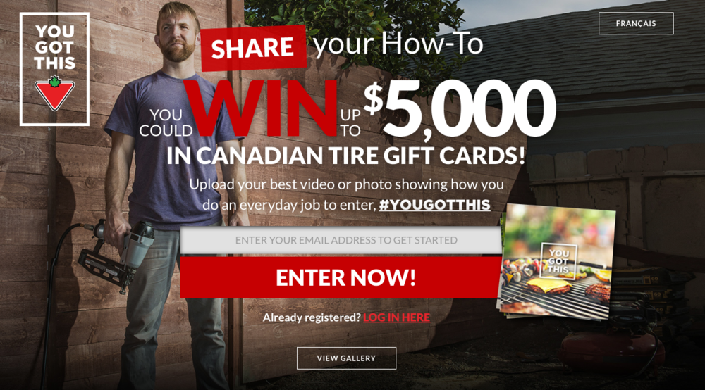 canadian tire user generated content contest example