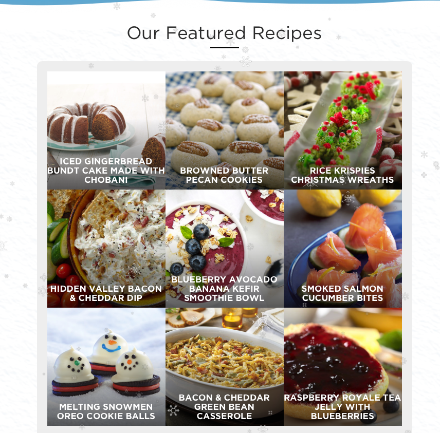 harris teeter gamified sweepstakes recipe marketing page