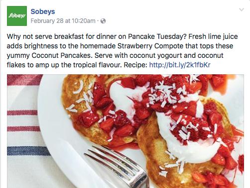 Sobeys Social Media Campaign Example