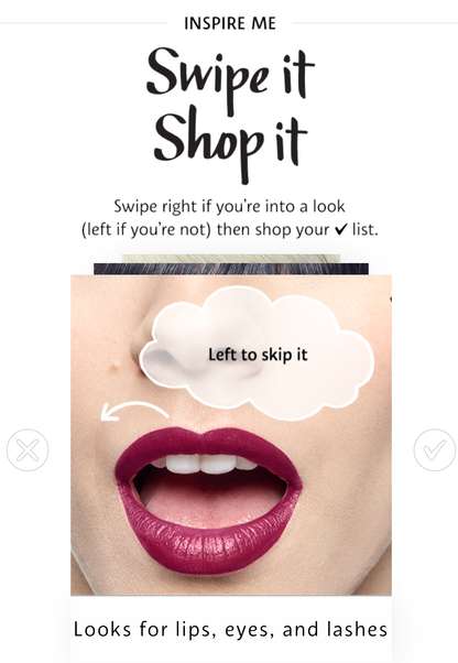 sephora product recommendation example