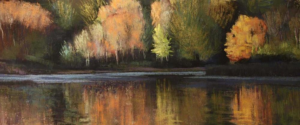 Last Late Colors at Hobbs Pond. Weston