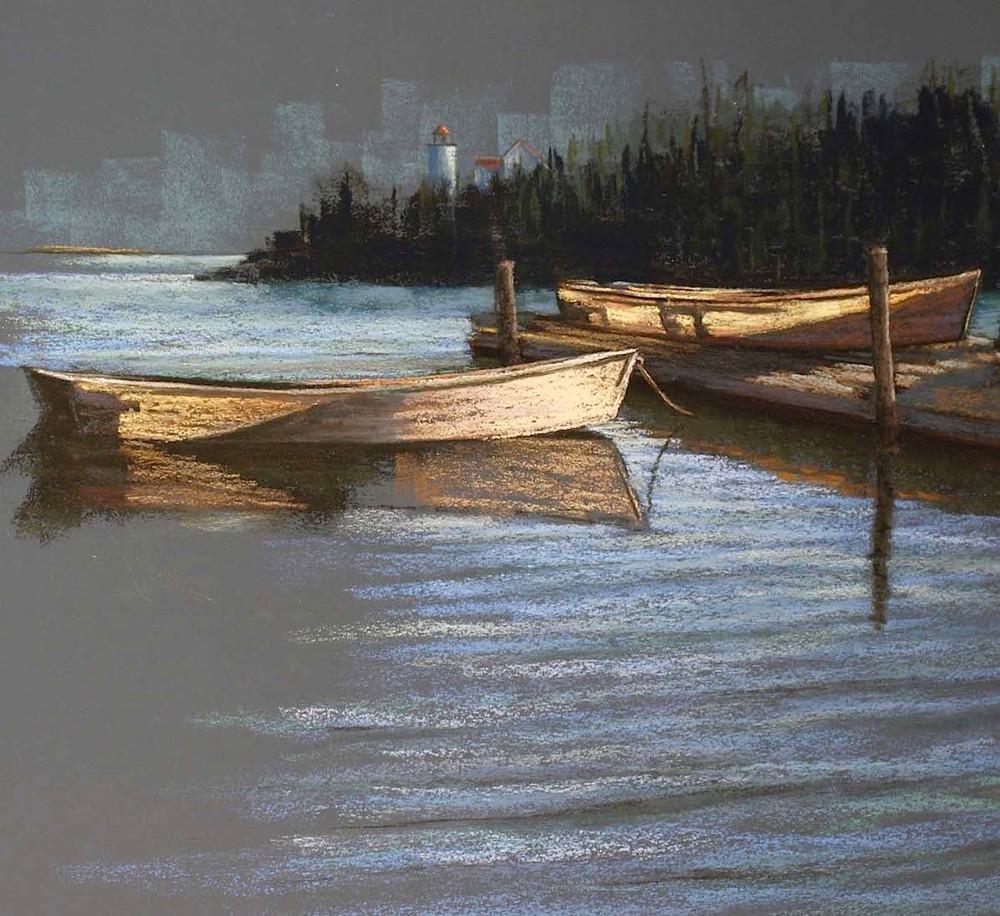 Translucent Boats. Swan's Island, Maine