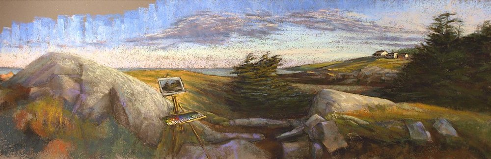 Painting a Monhegan Sunrise