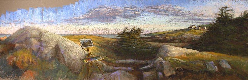 Painting a Monhegan Sunrise