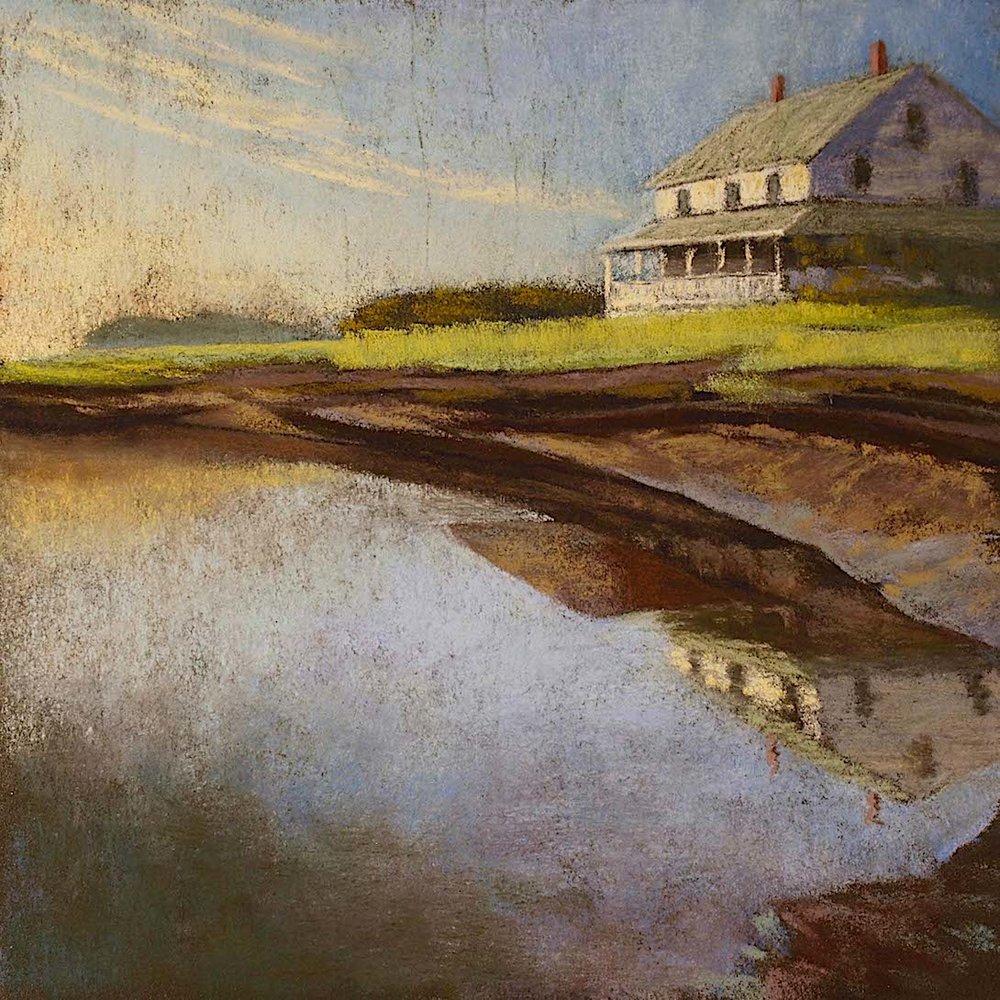 Marsh House Evening. Essex
