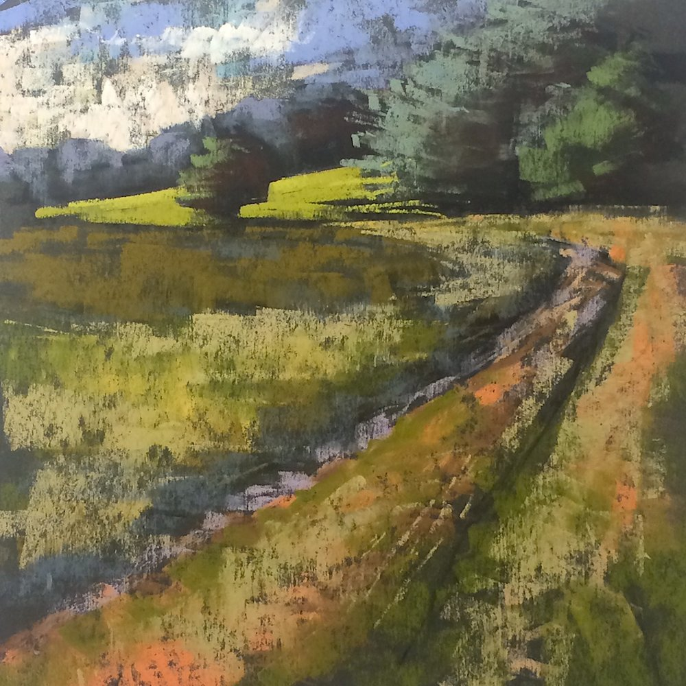 Land's Sake Farm. Tractor path
