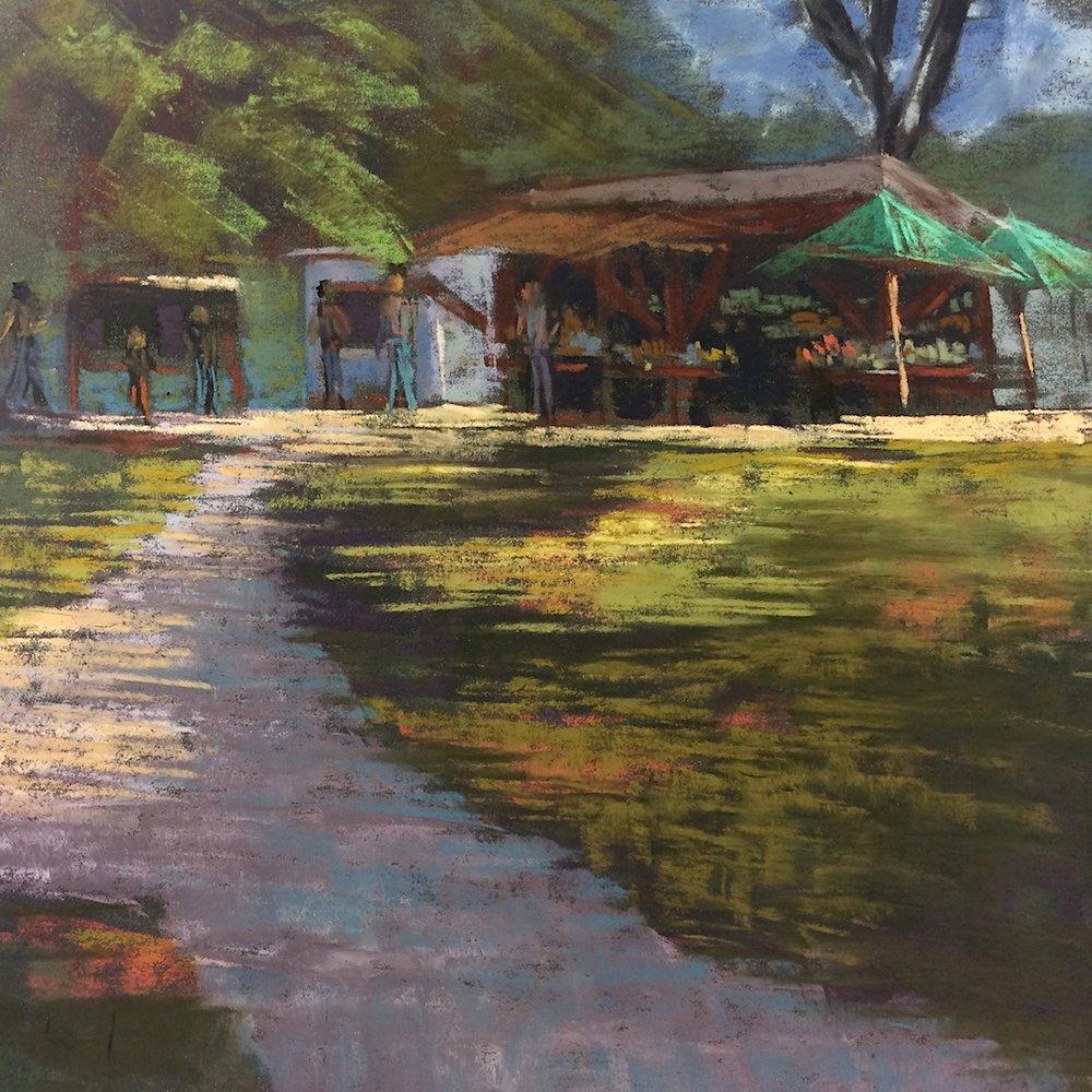 Pleinair at Land's Sake Farm. Weston
