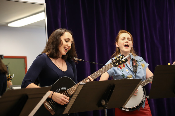 Lauren Patten and Ruby Wolf at the press preview of Goree Girls(courtesy of Broadway World)