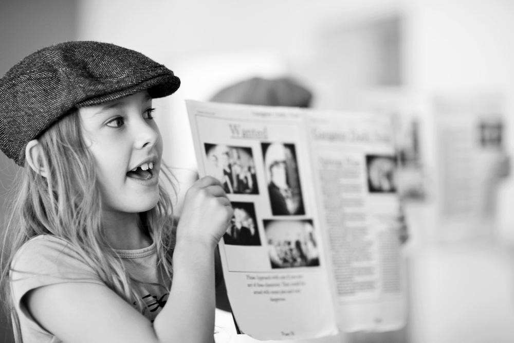 7 jähriges Mädchen im Musicalunterricht