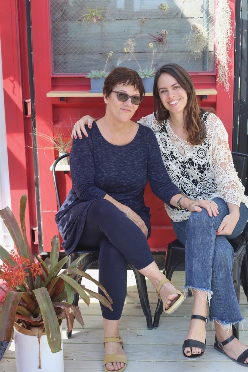 THE TEAM: Gayle and Carmen  - Hi! We're the mother-daughter duo behind The Garden Box. We were born out of Gayle's love for design and product and Carmen's love for nature and the handmade and local community. We hope you like our shops!