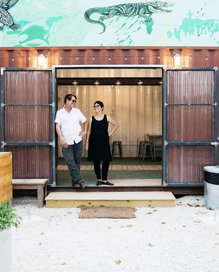 Our Leaders at the Market Box in the Wynwood Yard.
