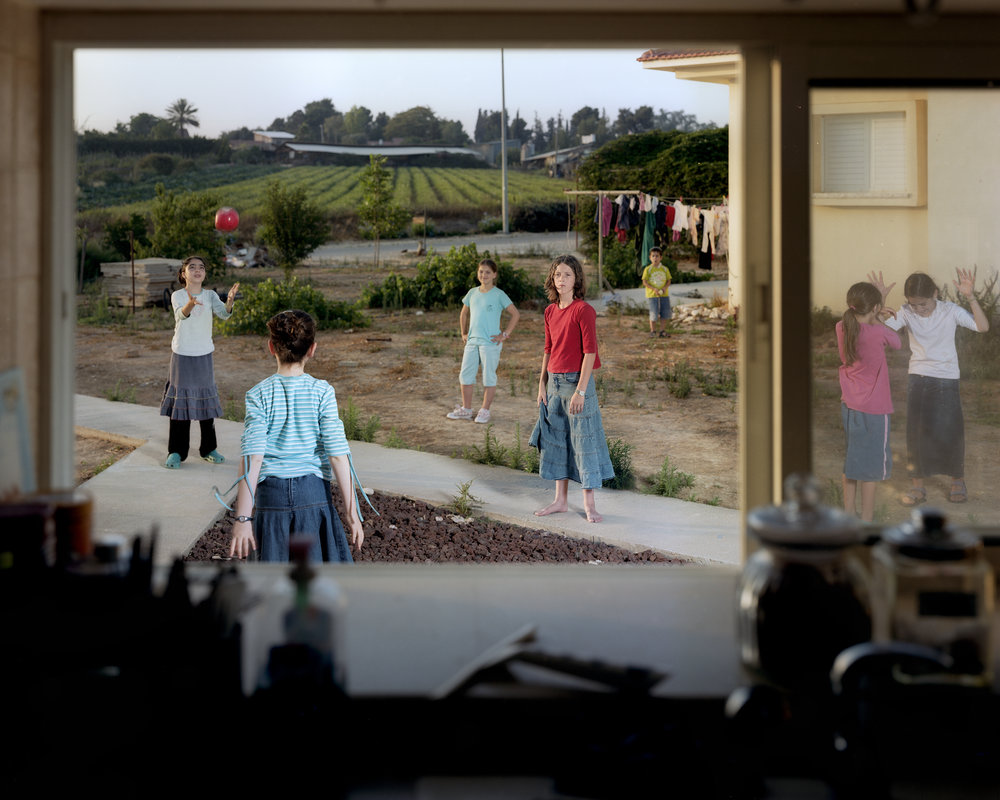 Girls Playing Ball Before Shabbat, 2008